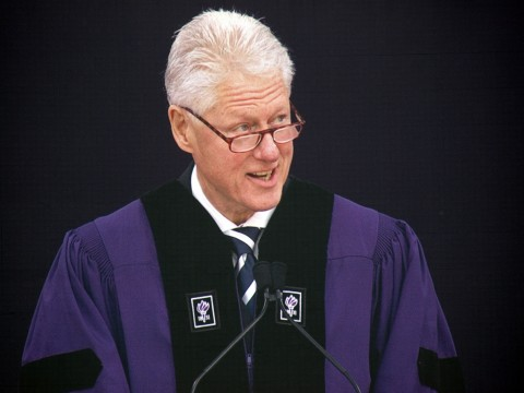 Bill Clinton at NYU Commencement