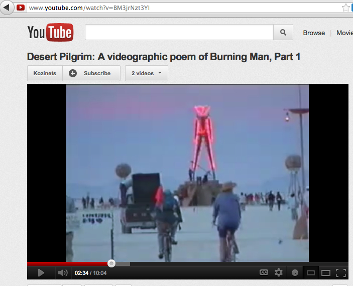 desert pilgrim videography burning man kozinets poem